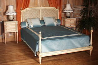 tete de lit louis xvi canne. Black Bedroom Furniture Sets. Home Design Ideas