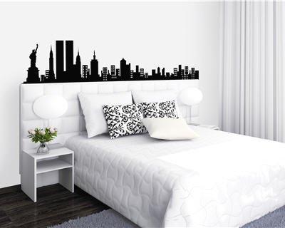 exemple tete de lit new york. Black Bedroom Furniture Sets. Home Design Ideas