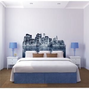 tete de lit new york. Black Bedroom Furniture Sets. Home Design Ideas