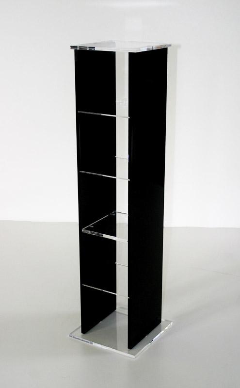 tour de rangement cd noir. Black Bedroom Furniture Sets. Home Design Ideas