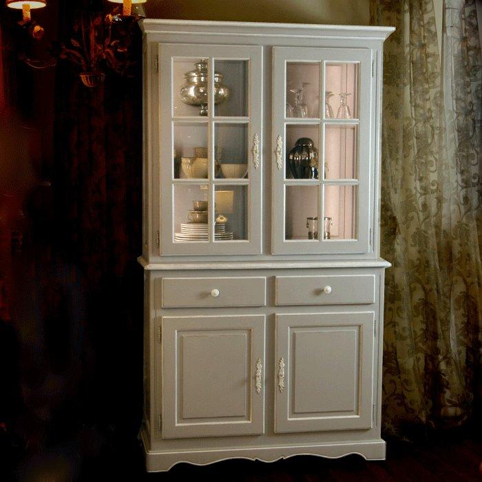 Visuel vaisselier bois blanc - Vaisselier blanc et bois ...