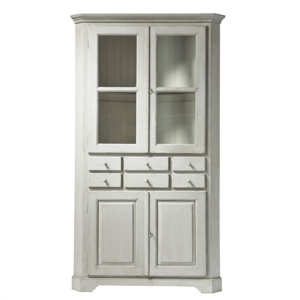 exemple vaisselier d 39 angle blanc. Black Bedroom Furniture Sets. Home Design Ideas