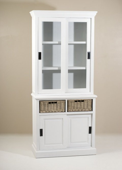 vaisselier d 39 angle blanc. Black Bedroom Furniture Sets. Home Design Ideas