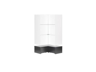 vaisselier d 39 angle moderne. Black Bedroom Furniture Sets. Home Design Ideas