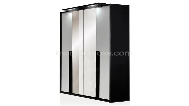 armoire chambre noir laqu top dcoration armoire chambre. Black Bedroom Furniture Sets. Home Design Ideas