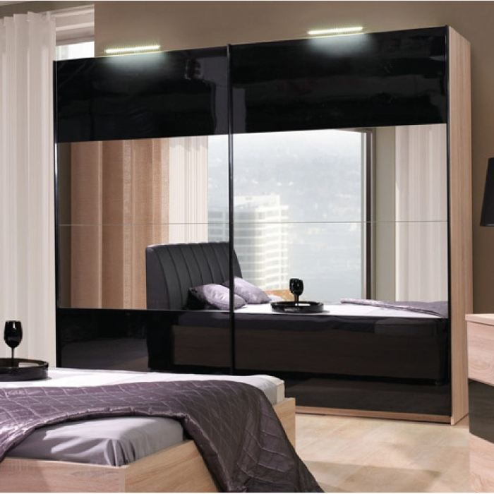 armoire de chambre a coucher pas cher. Black Bedroom Furniture Sets. Home Design Ideas