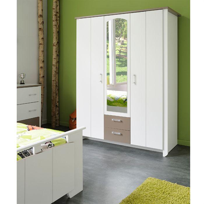 armoire de chambre avec glace. Black Bedroom Furniture Sets. Home Design Ideas