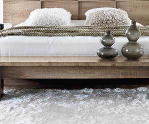 banc de lit en bois