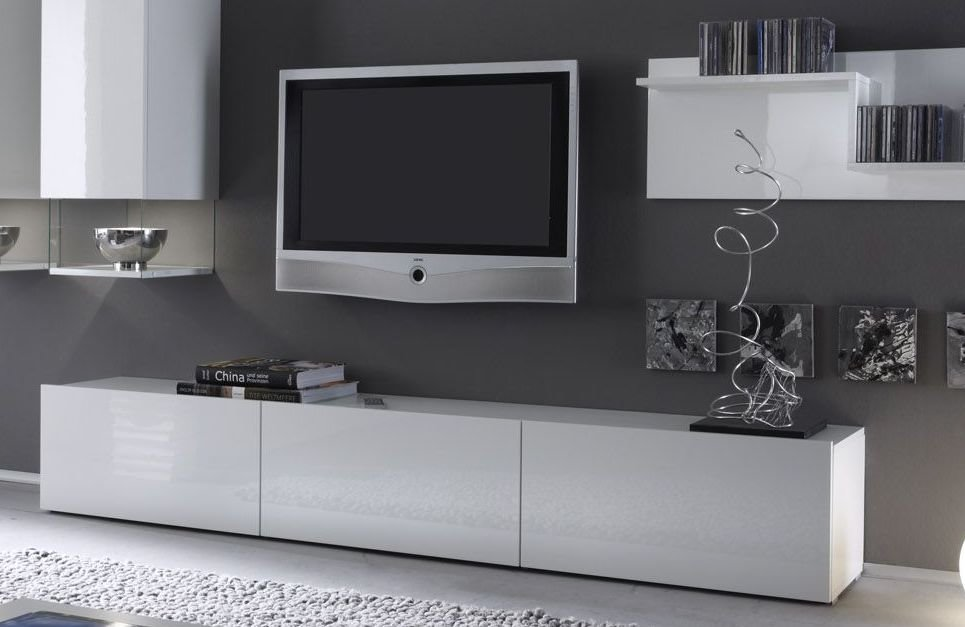 meuble bas blanc laque. Black Bedroom Furniture Sets. Home Design Ideas