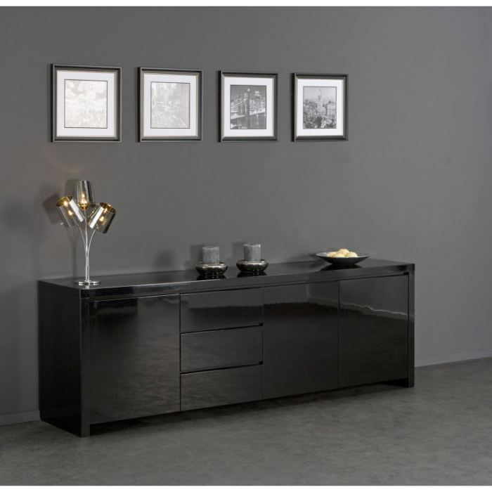 buffet bas noir laque. Black Bedroom Furniture Sets. Home Design Ideas