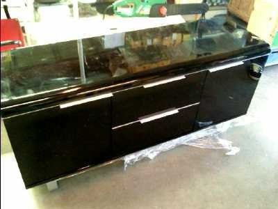 buffet bas noir laque. Black Bedroom Furniture Sets. Home Design Ideas