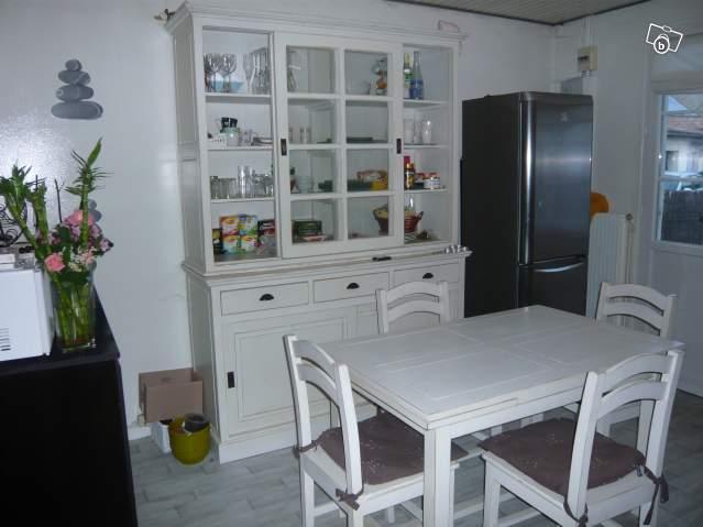 Buffet de cuisine en bois blanc - Buffet cuisine en bois ...