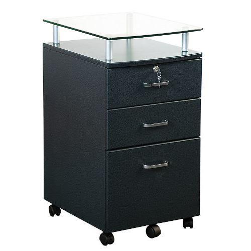Caisson bureau noir roulettes - Caisson bureau noir ...