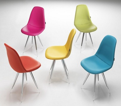 Chaise de cuisine couleur for Chaise design couleur