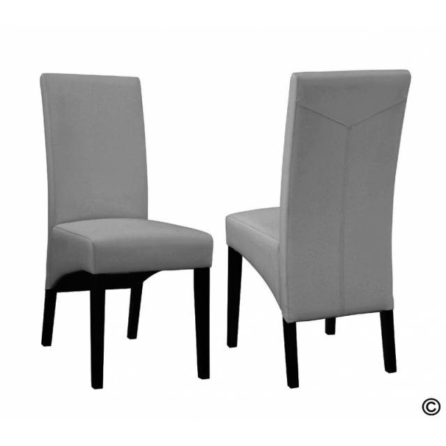 chaise de salle a manger design grise. Black Bedroom Furniture Sets. Home Design Ideas
