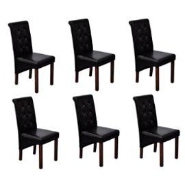 Chaise de salle a manger noir pas cher for 6 chaises de salle a manger pas cher