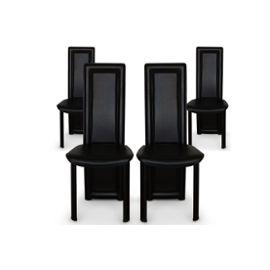 photo chaise de salle a manger noir pas cher