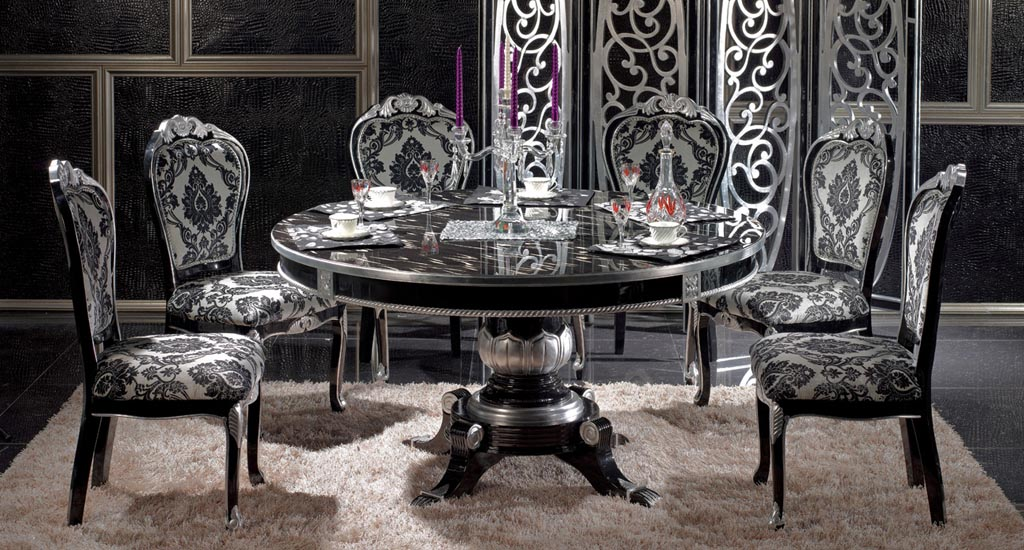 photo chaise salle a manger baroque. Black Bedroom Furniture Sets. Home Design Ideas