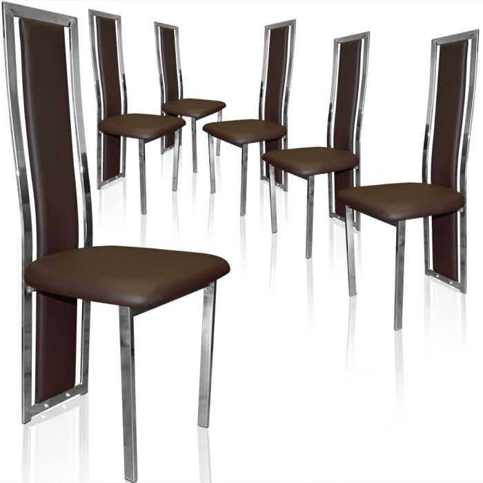 Organisation chaise salle a manger marron for Chaise de salle a manger marron