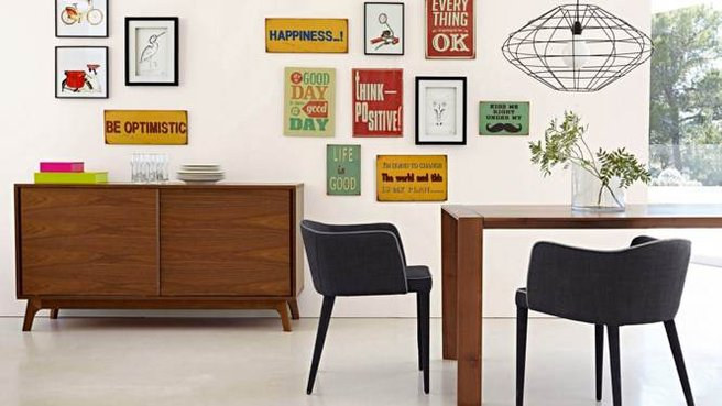 chaises salle a manger retro. Black Bedroom Furniture Sets. Home Design Ideas