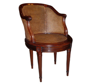 fauteuil de bureau louis xvi. Black Bedroom Furniture Sets. Home Design Ideas