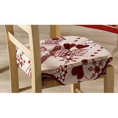 Galette de chaise a rabat - Coussins de chaises de cuisine ...