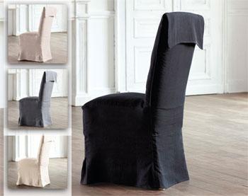 housse de chaise en lin. Black Bedroom Furniture Sets. Home Design Ideas