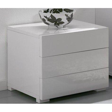 excellent lit laqu blanc brillant with lit laqu blanc brillant - Table De Chevet Laque Blanc Brillant