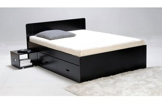 lit 2 personnes serigraphie new york avec tiroir. Black Bedroom Furniture Sets. Home Design Ideas