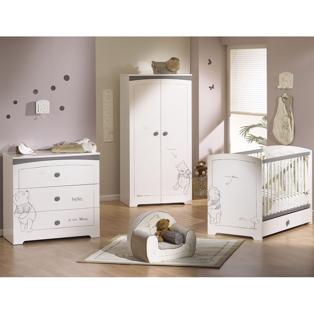 Deco Chambre Bleu Violet : exemple lit bebe winnie l'ourson aubert