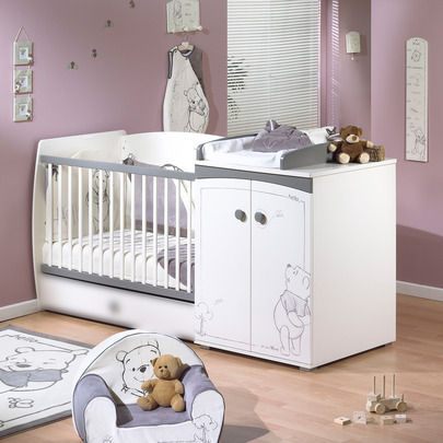 Lit bebe winnie l 39 ourson aubert for Meuble chambre de bb
