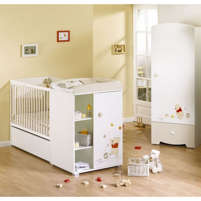 lit bebe winnie l 39 ourson aubert. Black Bedroom Furniture Sets. Home Design Ideas