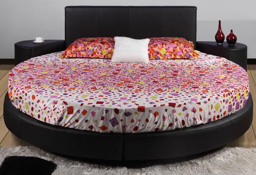 lit deux personnes rond. Black Bedroom Furniture Sets. Home Design Ideas