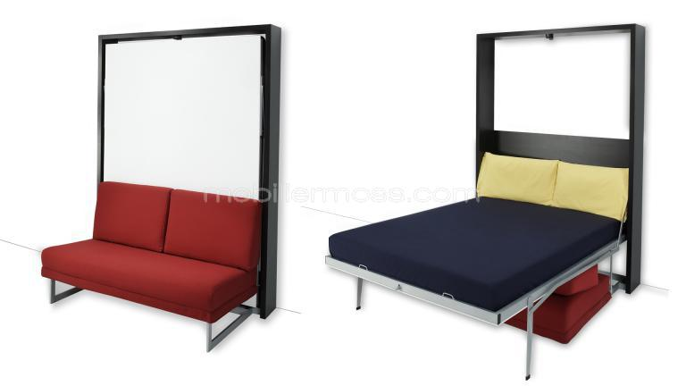 photo lit deux places escamotable. Black Bedroom Furniture Sets. Home Design Ideas
