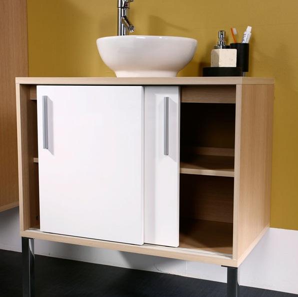 meuble bas salle de bain fly. Black Bedroom Furniture Sets. Home Design Ideas