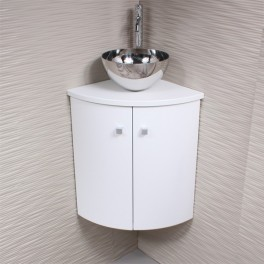 Meuble d 39 angle vasque wc for Meuble sous vasque d angle