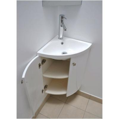 Meuble d 39 angle vasque wc for Meuble lavabo wc