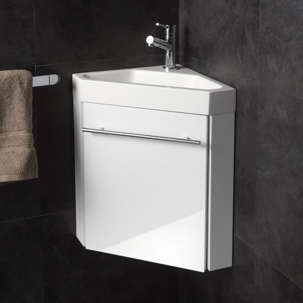 Photo meuble d 39 angle vasque wc - Meuble lave main d angle wc ...