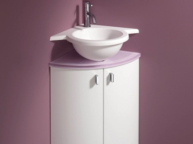 Meuble sous vasque toilette malaga and bricolage on - Lavabo d angle leroy merlin ...