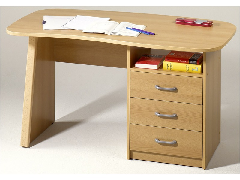 Meuble de bureau hetre for Meubles de bureau conforama