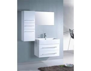 photo meuble haut salle de bain blanc laque. Black Bedroom Furniture Sets. Home Design Ideas