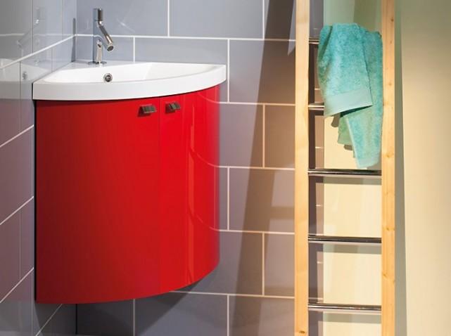 Meuble vasque d 39 angle salle de bain for Vasque angle salle de bain