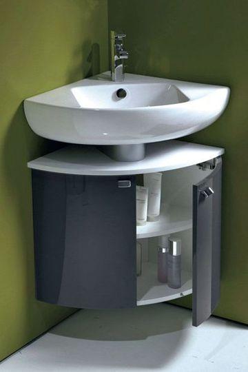Photo meuble vasque d 39 angle salle de bain for Meuble d angle mural salle de bain