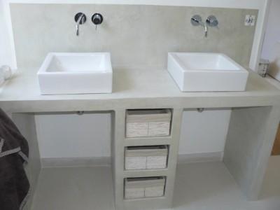 Meuble vasque en beton cellulaire for Meuble beton cellulaire