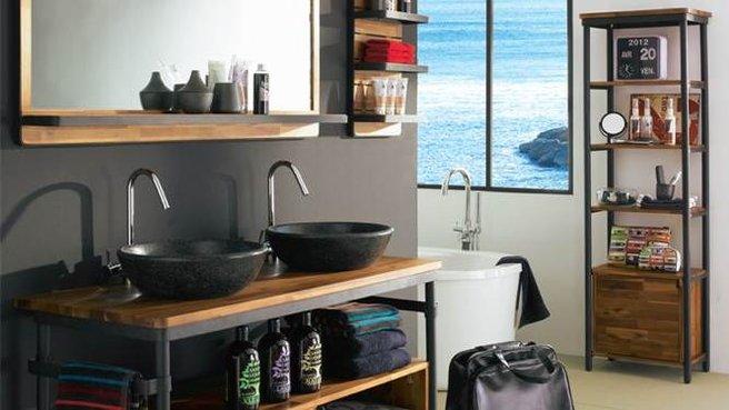 meuble vasque fait maison