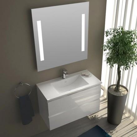 Meuble salle de bain faible profondeur for Petit meuble salle bain
