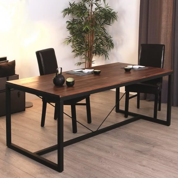 table a manger industrielle. Black Bedroom Furniture Sets. Home Design Ideas