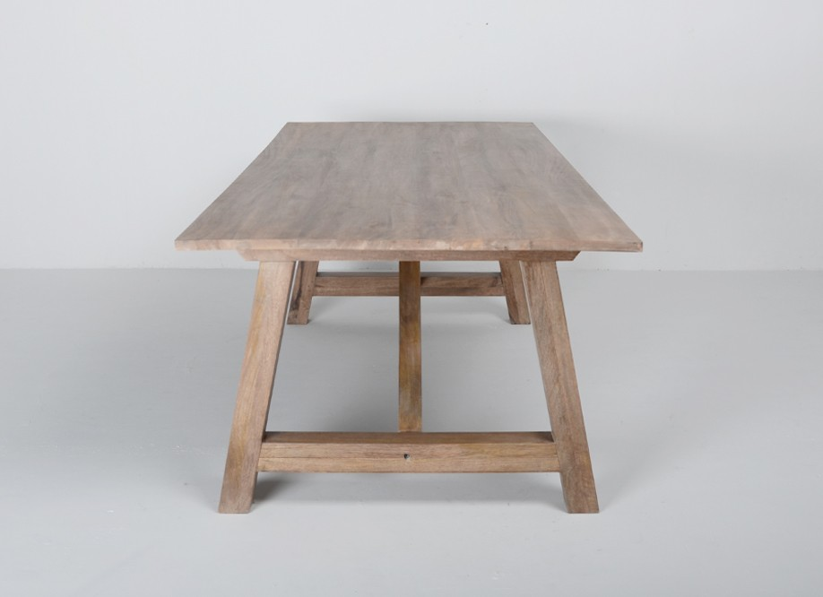 Id e table a manger rectangulaire bois - Table en bois rectangulaire ...