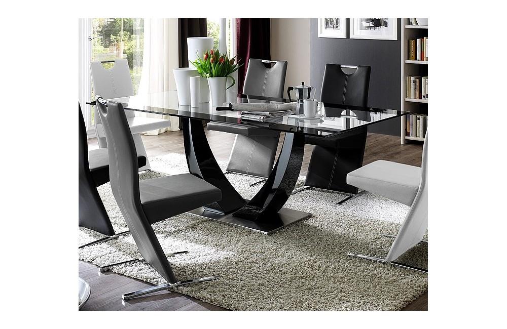 table a manger verre. Black Bedroom Furniture Sets. Home Design Ideas