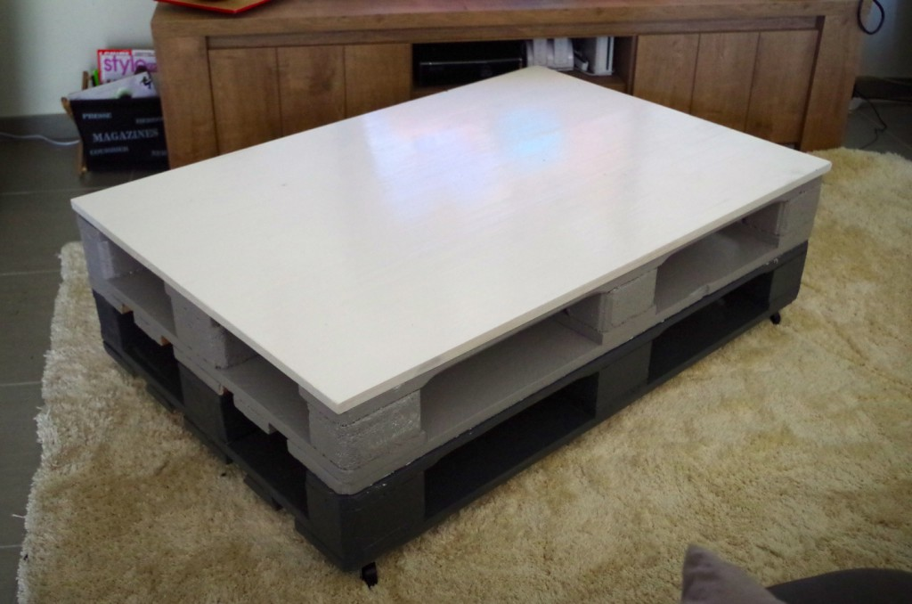 Table basse avec palette - Modele table basse ...